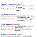 Programul sfințirii caselor 2013