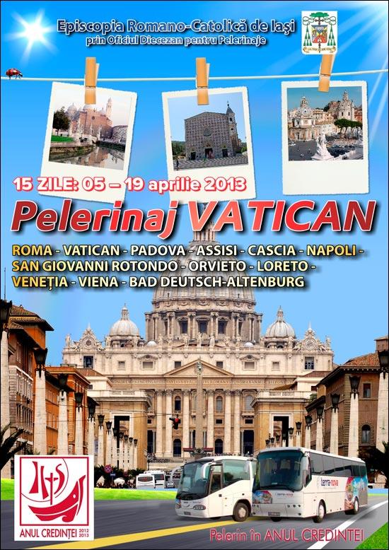 Pelerinaj diecezan în Italia, în cadrul Anului Credinţei
