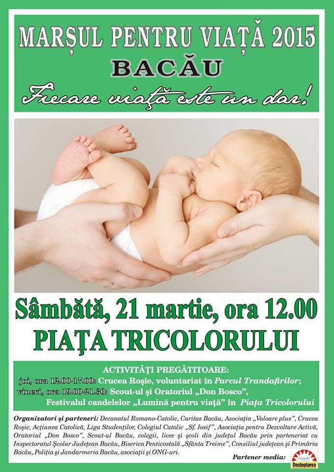 21 martie. Marșul pentru viață la Bacău.